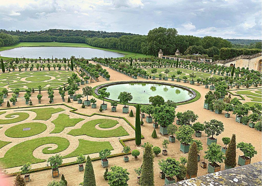 The Orangerie, part of the garden at Versailles