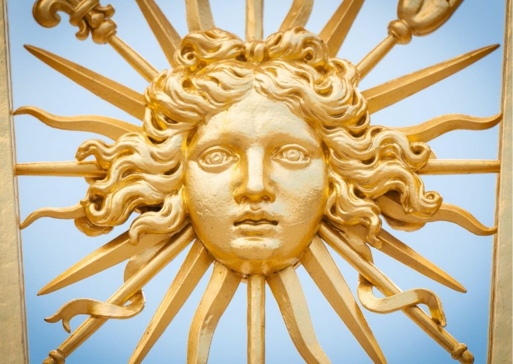 The Sun King, Louis XIV, changed Versailles to make it his main residence. There is lots of evidence of his presence, such as gold suns on the fences