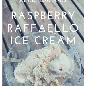 Raspberry Raffaello ice cream - title