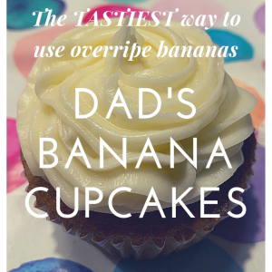 The tastiest use of overripe bananas: Banana cupcakes