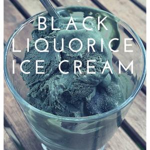 Black liquorice ice cream title